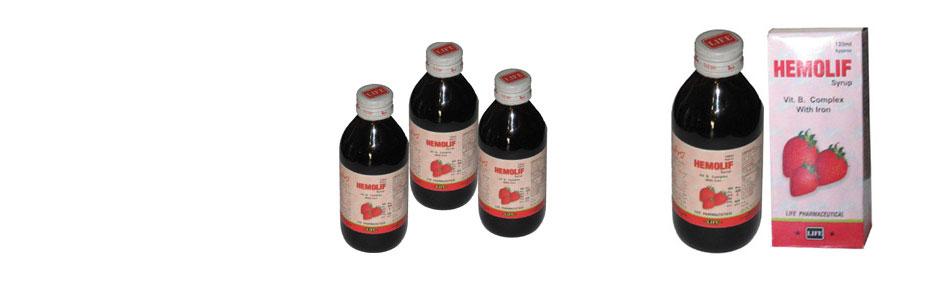 Hemolif Syrup (Vit. B. Complex + Iron)