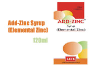 Add-Zinc Syrup (Elemental Zinc)