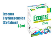 Excenza Dry Suspension 60ml (Cefixime)