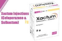 Xactum Injection 2g (Cefoperazone & Sulbactam)