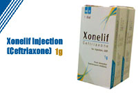 Xonelif Injection 1g (Ceftriaxone)