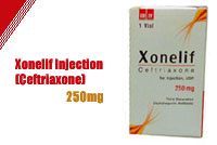 Xonelif Injection 250mg (Ceftriaxone)